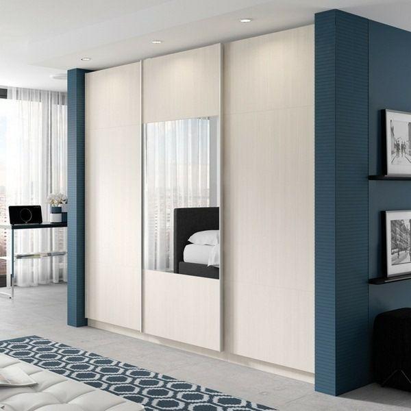 armoire coulissante design élégant tapis blanc table basse fraîche