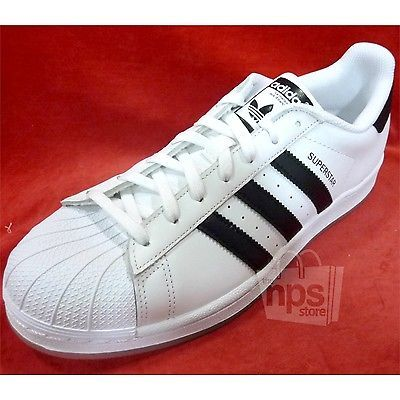 #Men #Shoes Adidas Men's Superstar Casual Sneakers Size 9.5 White Black  Leather B49794 #