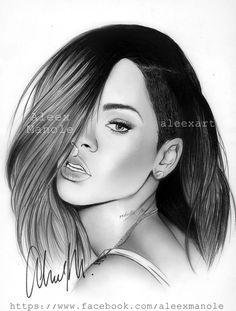Rihanna Drawings Rihanna Drawing Tumblr Karakalem In 2019