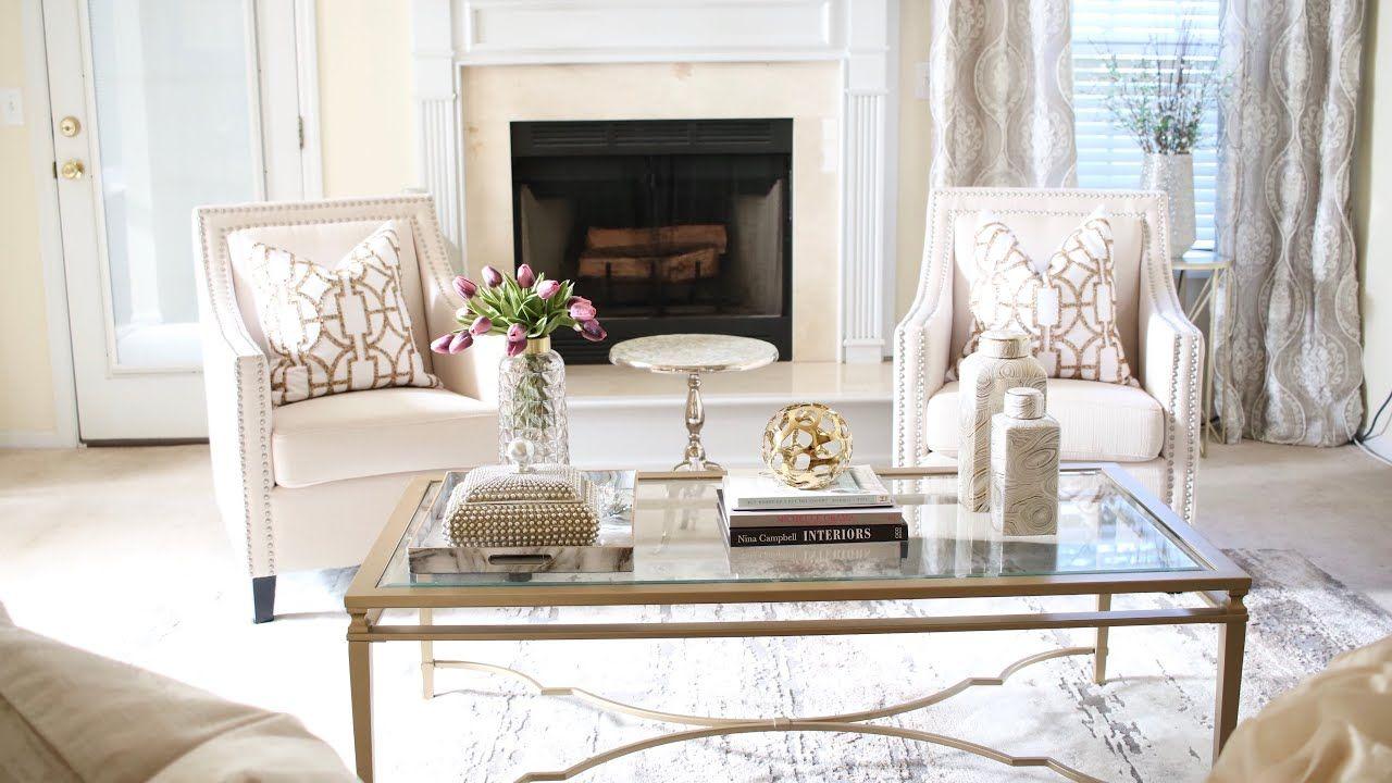 Living Room Decorating Ideas Luxury On A Budget Youtube In 2020 Living Room Decor Glam Living Room Summer Living Room