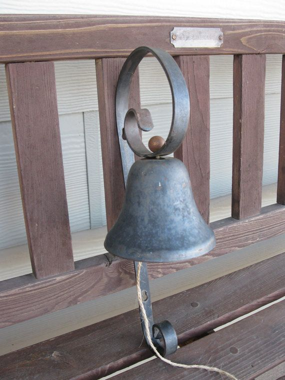 Don't YELL  Ring the BELL  vintage wrought iron by oakiesclaptrap, $15.99