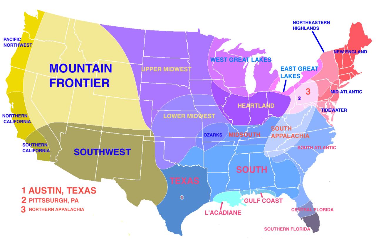 Semi Gra Nt Map Of Us Regions