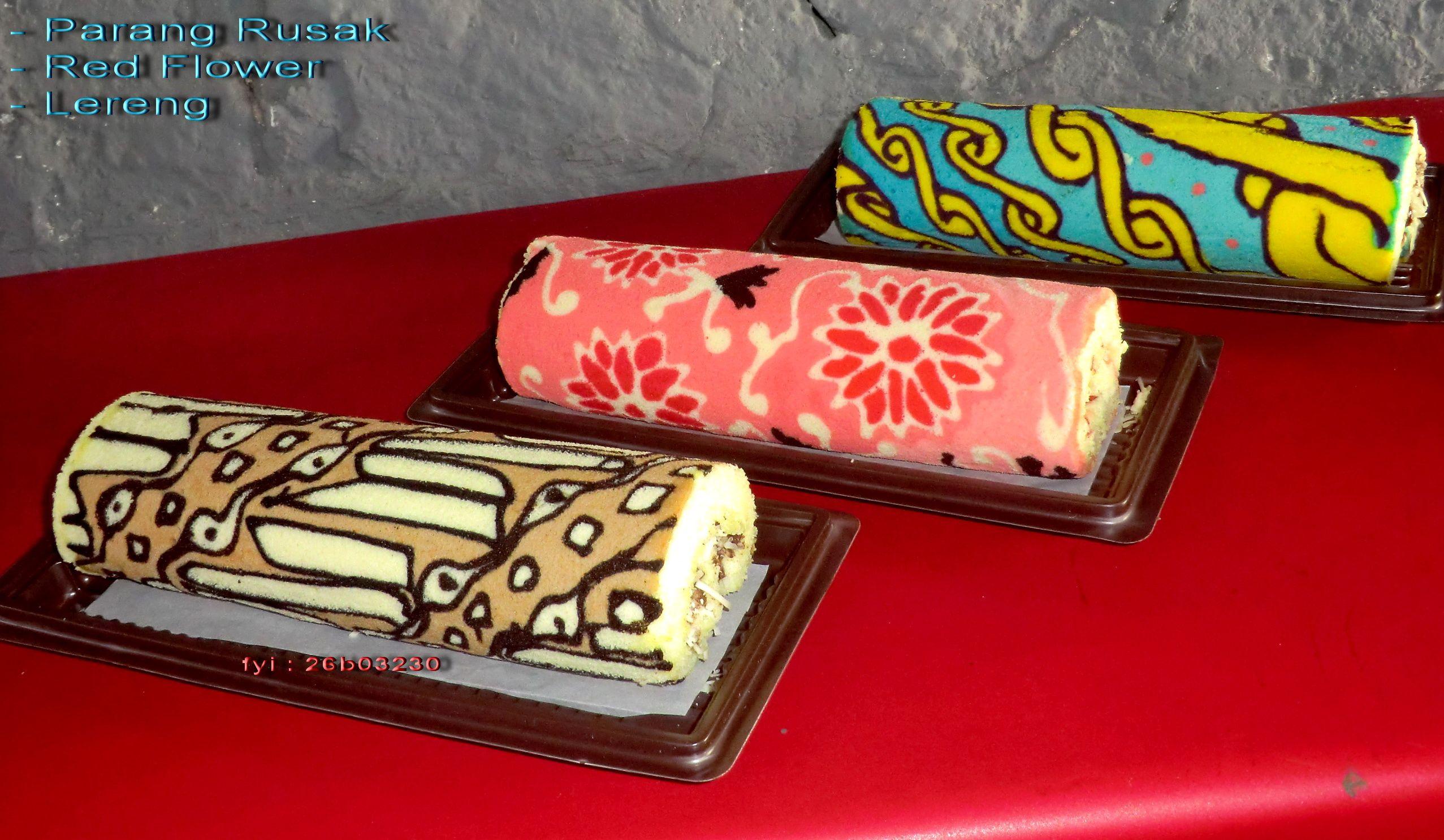 Batik Roll Cake Bunga