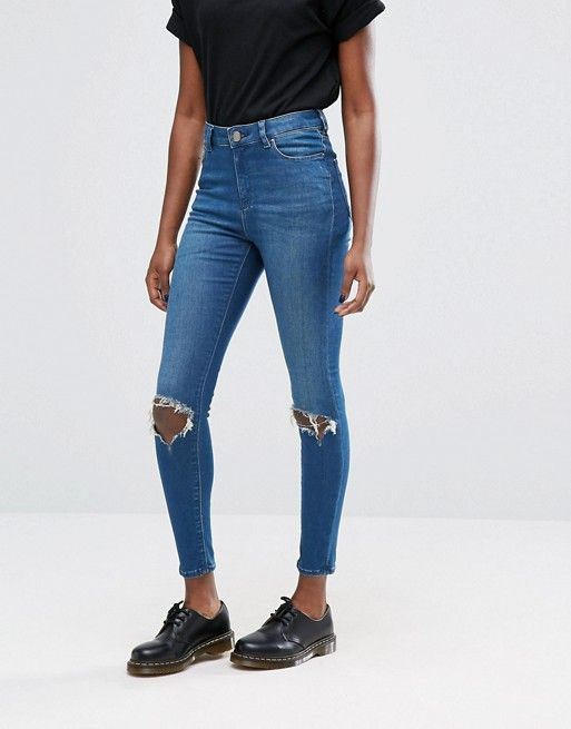 Asos Ridley ripped knee jeans