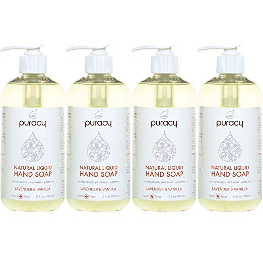 Puracy Natural Liquid Hand Soap Sulfate Free Gel Hand Wash