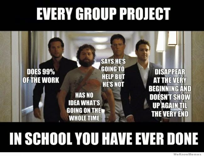 Journals of the Underachiever: Group Project.... (the whole class groans).