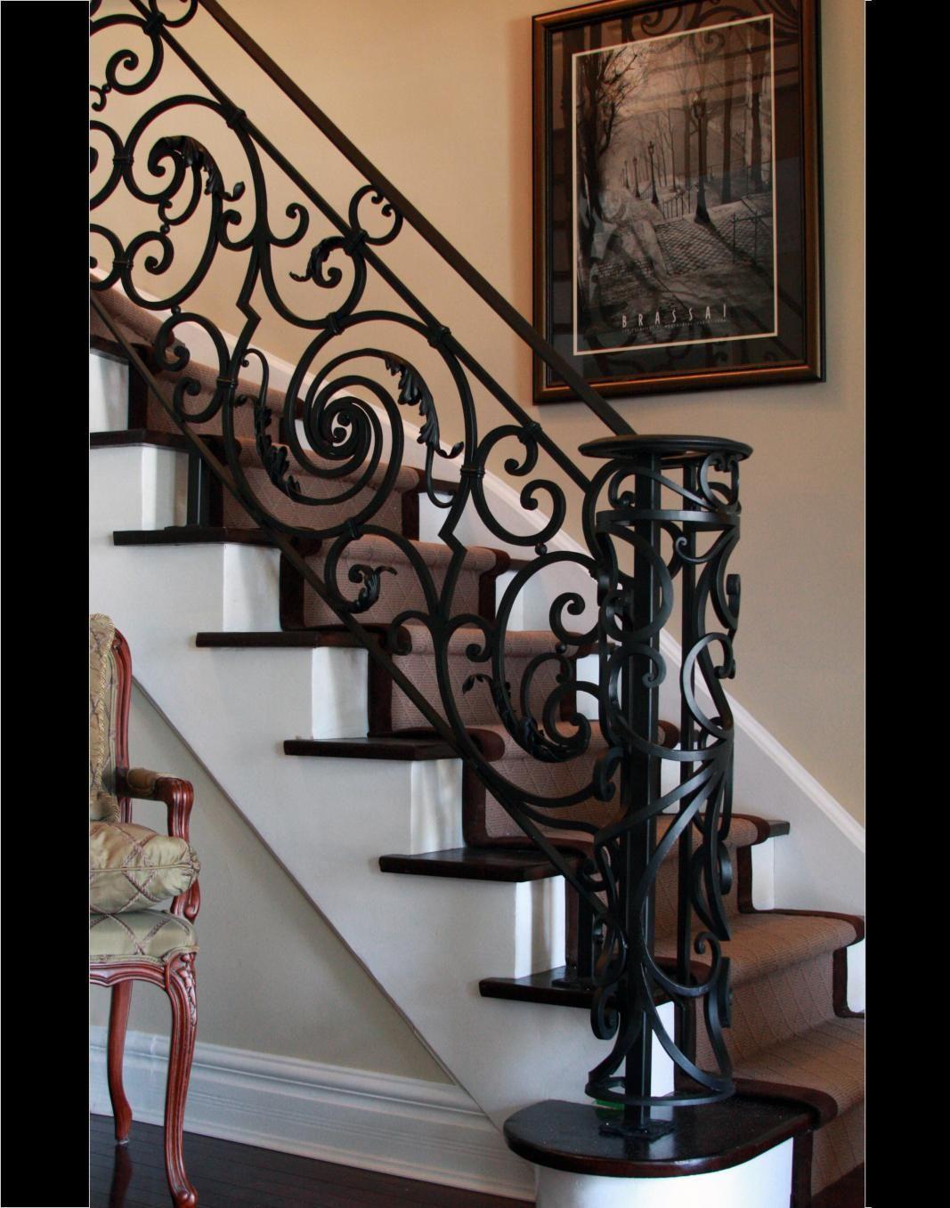 Best Generous Custom Interior Wrought Iron Stairways Toronto 640 x 480
