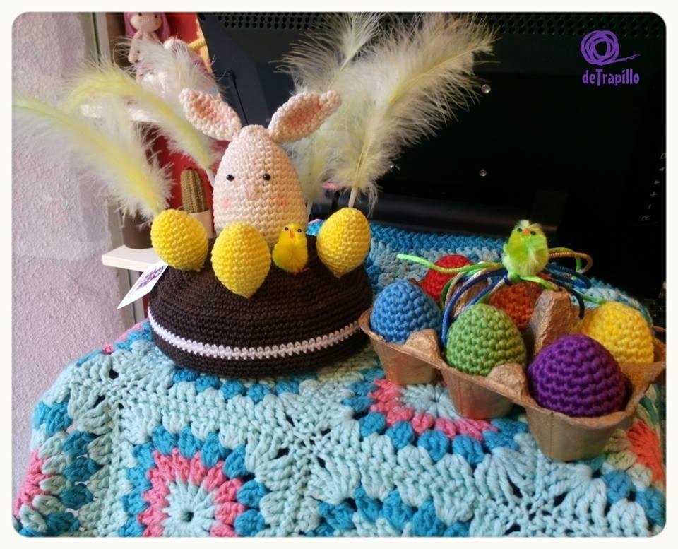 Mona de Pascua y huevera para deTrapillo Patrón tarta en http://www ...