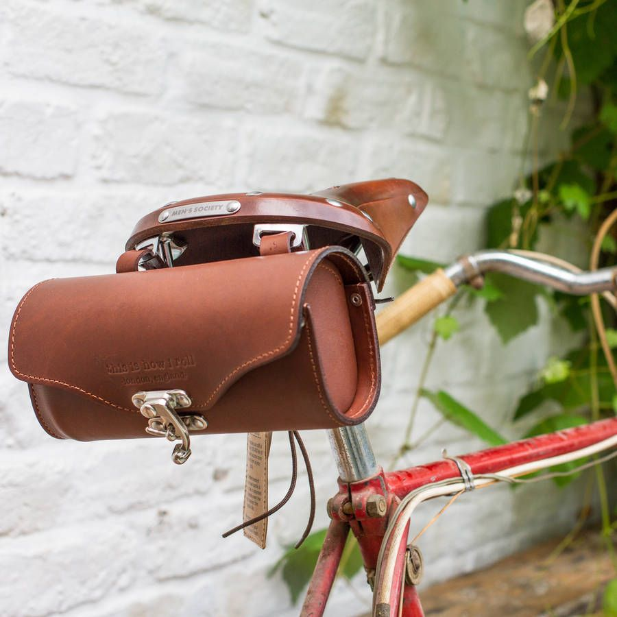 Leather Bicycle Saddle Bag By Men S Society Notonthehighstreet
