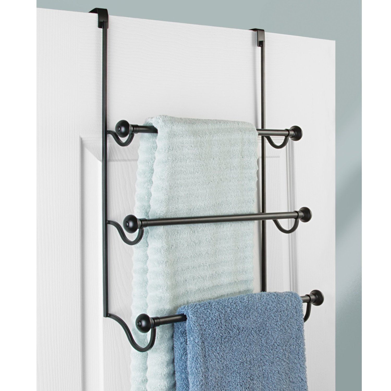 InterDesign York Over the Bathroom Shower Door Bath Towel W