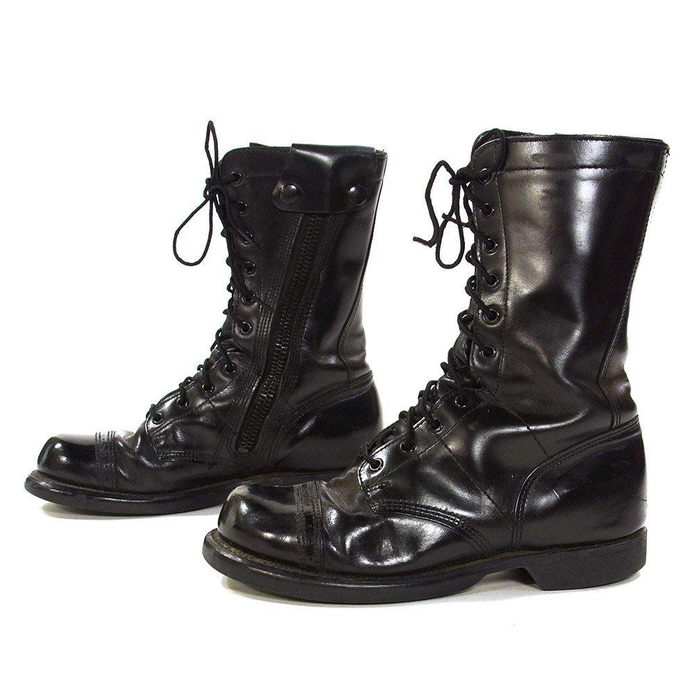 99c9b56a215 80s Bates Combat Boots /Vintage 1980s Black Leather Lace Up Military ...