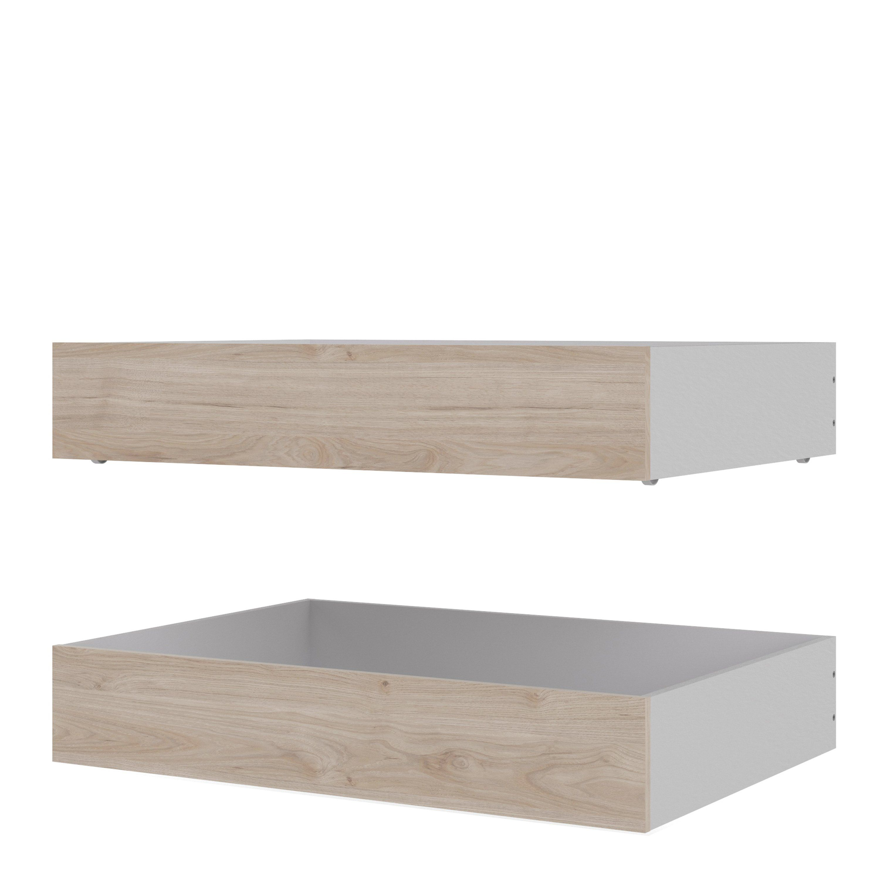 Naia Set of 2 Underbed Drawers (for Single or Double beds) in Jackson Hickory Oak