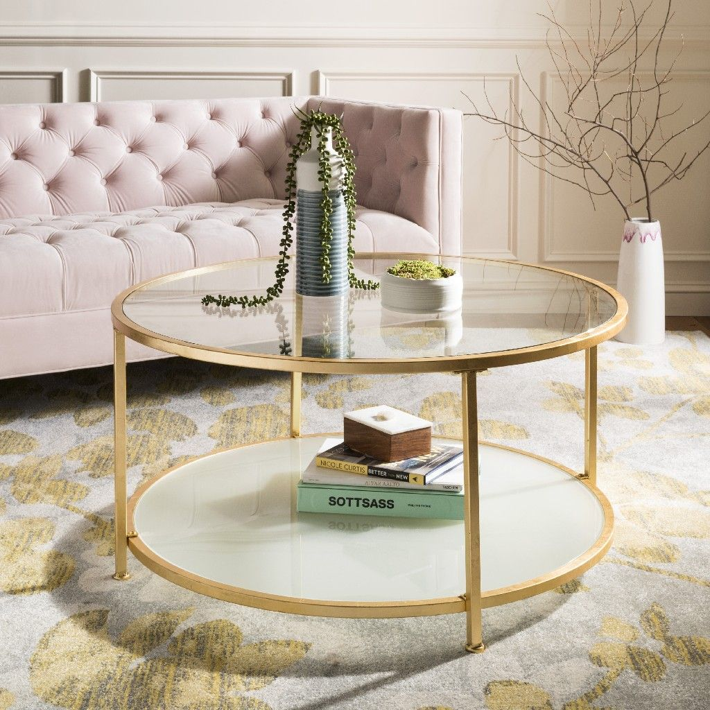 Ivy 2 Tier Round Coffee Table In Gold Safavieh Cof6203a Gold Coffee Table Coffee Table With Shelf Coffee Table [ 1024 x 1024 Pixel ]