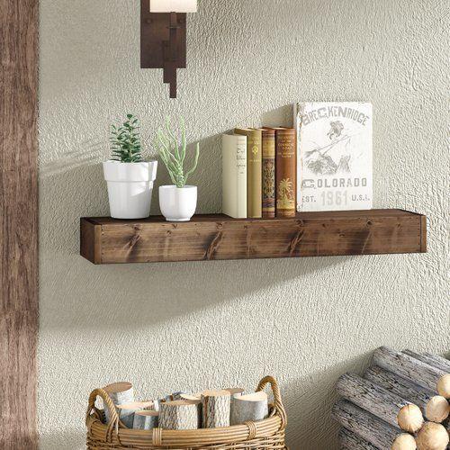 Loon Peak Westhampton Wood Floating Shelf With Images Wood