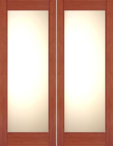 Bm 32 Interior Bamboo Contemporary Full Lite Lami Ig Glass Double