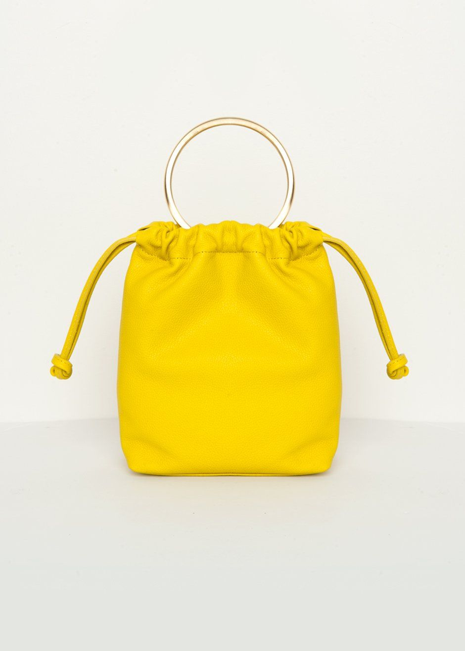 Neon Yellow Ring Handle Drawstring Bag in 2019  8091538671af4