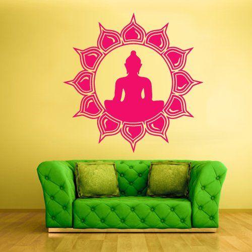 Wall Decal Vinyl Sticker Decals Yoga Symbol Flower Lotos Indian Z1549 StickersForLife http://www.amazon.com/dp/B00ENF6TJO/ref=cm_sw_r_pi_dp_3F6evb0NQS983