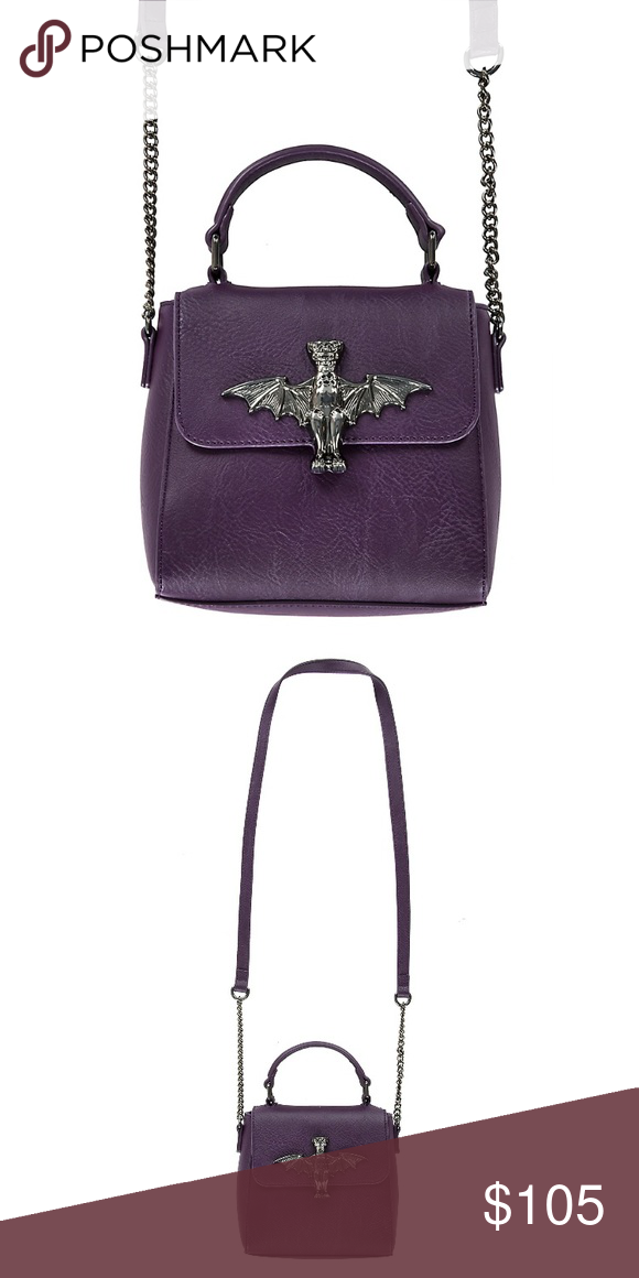 73e6e78f81e Disney Loungefly Haunted Mansion Bat Crossbody Bag New with tags Disney  Bags Crossbody Bags
