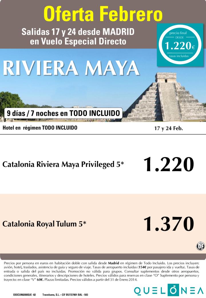 Oferta Riviera Maya FEBRERO Hoteles Catalonia desde 1220€, salidas Lunes 17 y 24 desde Madrid ultimo minuto - http://zocotours.com/oferta-riviera-maya-febrero-hoteles-catalonia-desde-1220e-salidas-lunes-17-y-24-desde-madrid-ultimo-minuto-2/