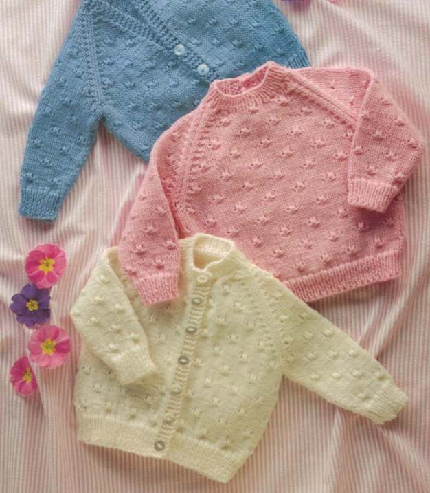 Shepherd baby knitting pattern for sweater and cardigan - Free Baby Knitting