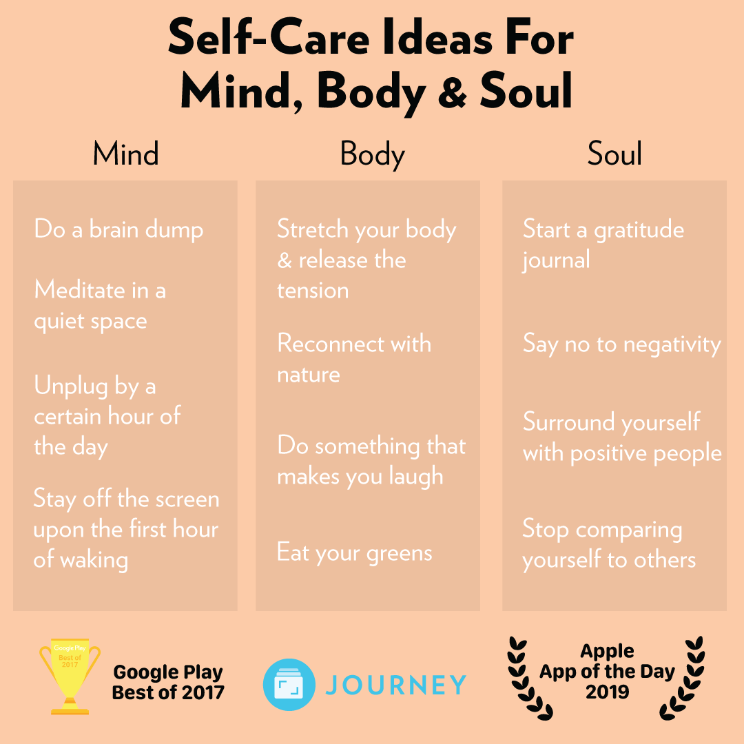 Self Care Ideas For Mind Body And Soul In