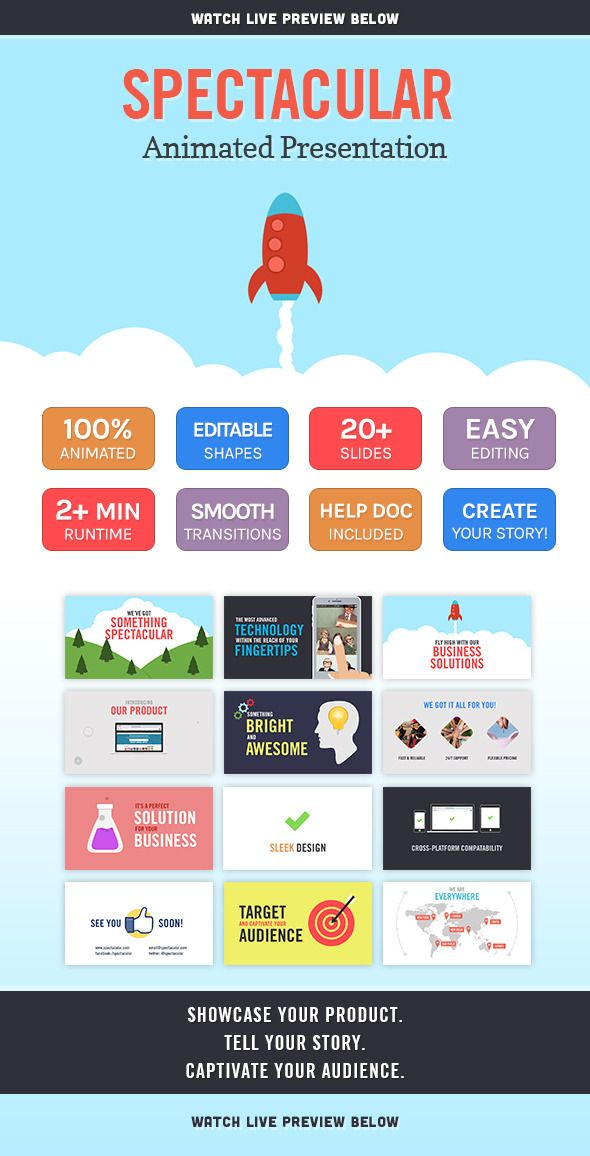 Spectacular Animated Presentation (PowerPoint Templates - animated power point template