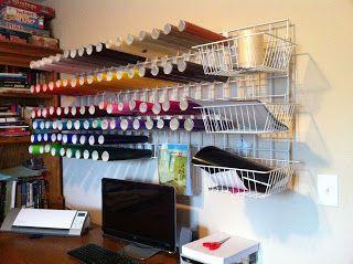 Easy Gridwall Vinyl Organizer Diy Craft Room Room Inspiration
