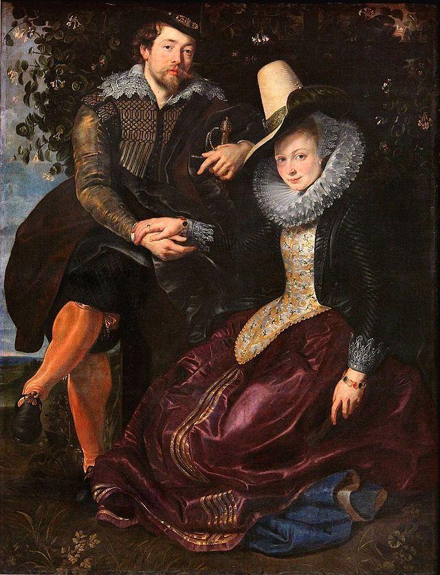 """""""Peter Paul Rubens e Esposa, Isabella Brant"""".(c.1609). Auto-Retrato."""