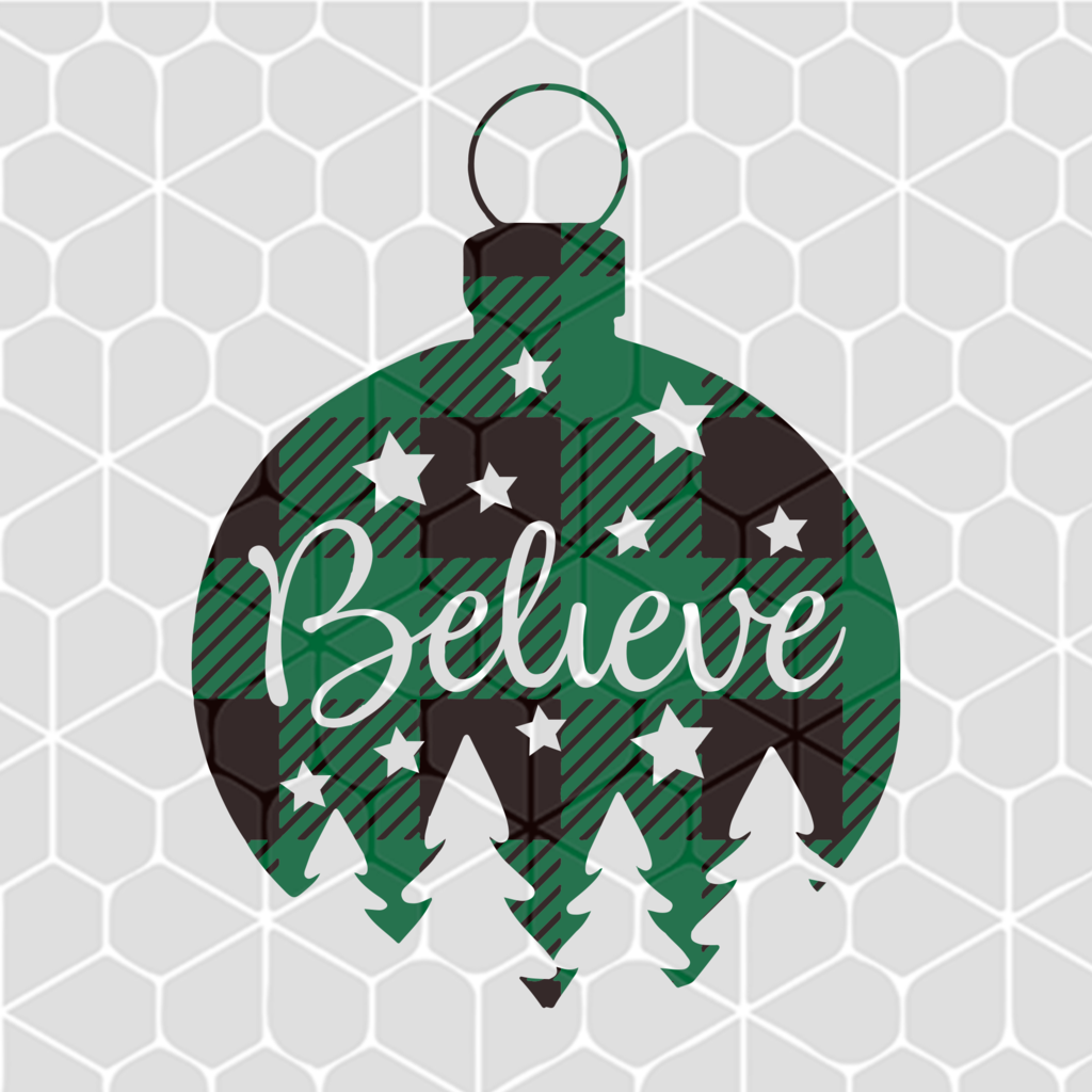Christmas Believe Ornament Svg Files For Silhouette Files For Cricut Svg Dxf Eps Png Instant Download Christmas Svg Diy Christmas Ornaments Vinyl Ornaments