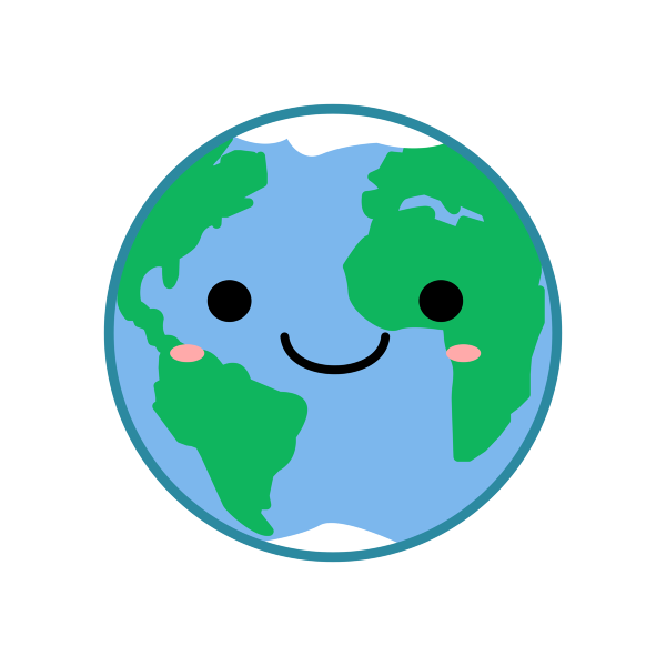 5 Changes To Make Your Home More Eco Friendly Kawaii Earth Earth Clipart Earth Drawings