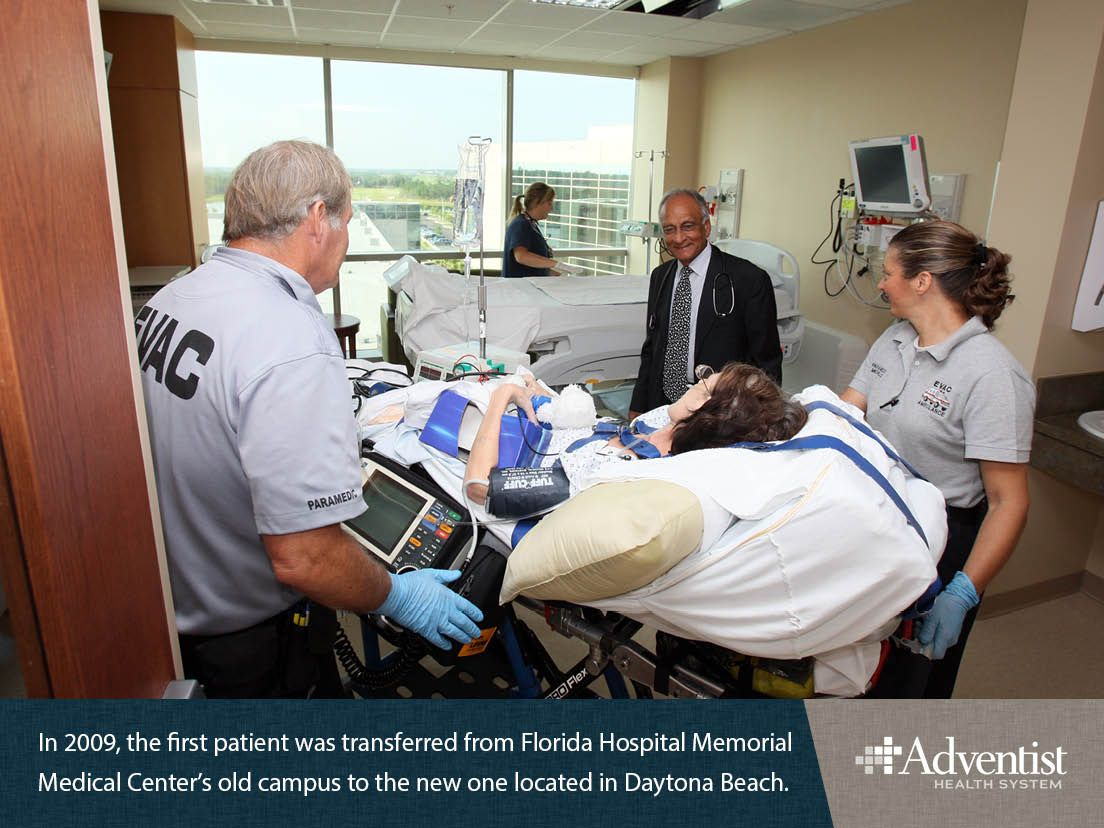 In 2009 the first patient was transferred from florida