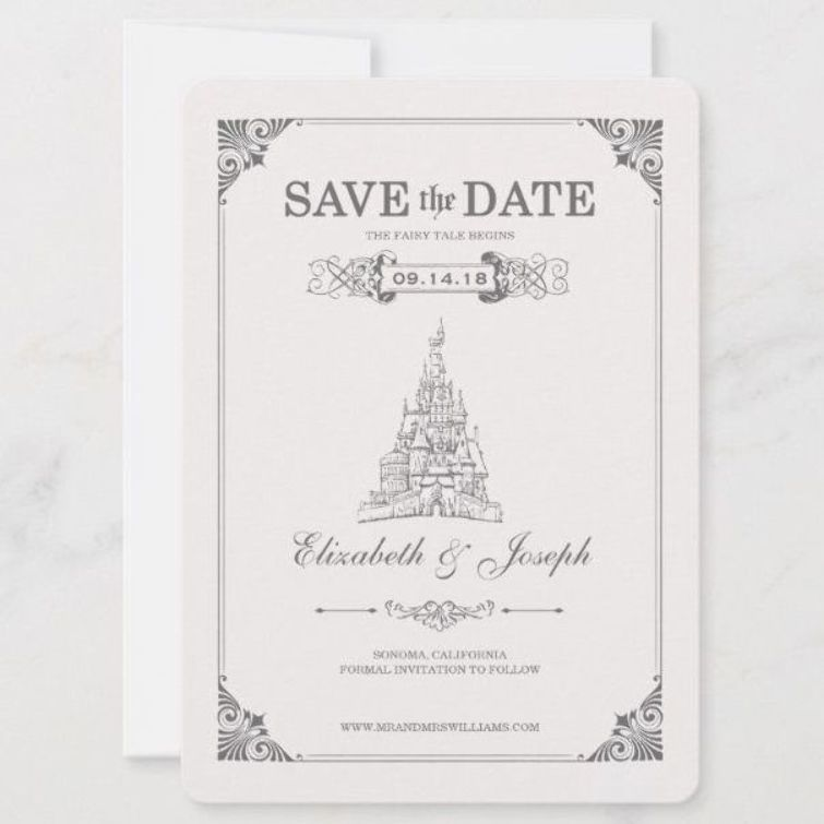 Beauty and the Beast Fairy Tale  Save the Date TaleSaveDateFairy
