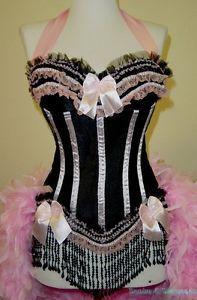 Fantasy Masquerades Custom Burlesque Costume Victorian Circus Carnival Feather