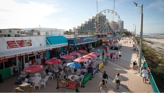 Daytona Beach Boardwalk And Pier Florida Fl
