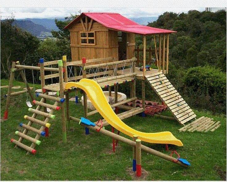 Casas De Madera Para Ninos Con Juegos