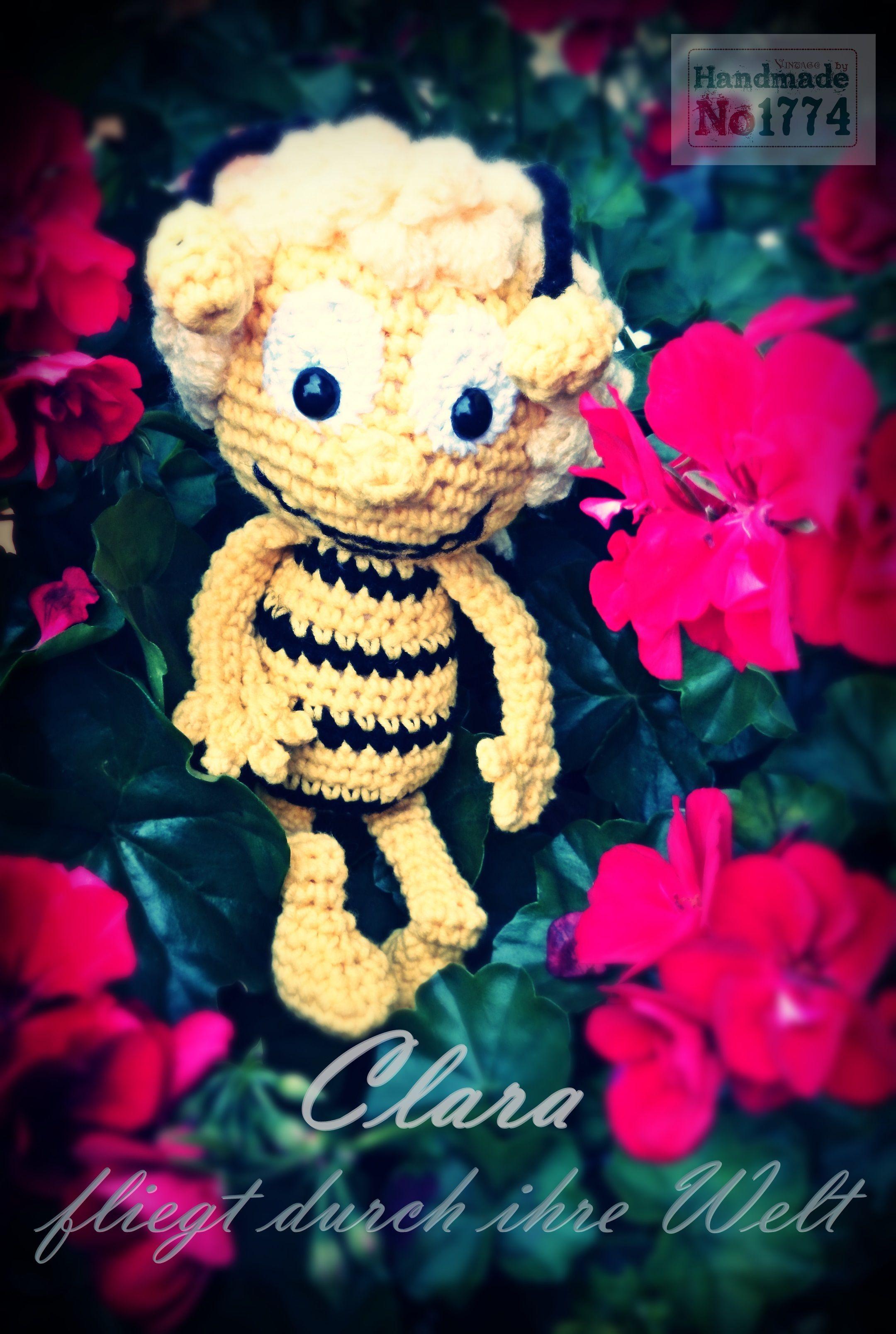 Biene - Kuscheltier - gehäkelt - crochet - Kind - Spielzeug - Biene ...