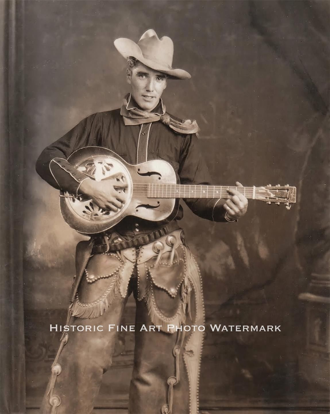 vintage cowboy guitar dog - photo #28