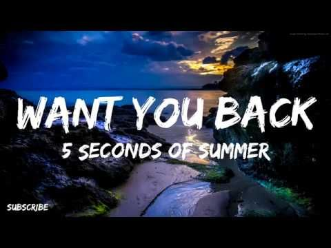 5 Seconds Of Summer Want You Back Lyric Video 5 Seconds Of