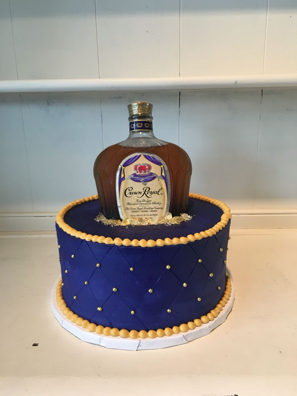 Liquor Bottle Cake Decorations Crown Royal Cake Theflourshopbakery Flourshoptx  Baking And