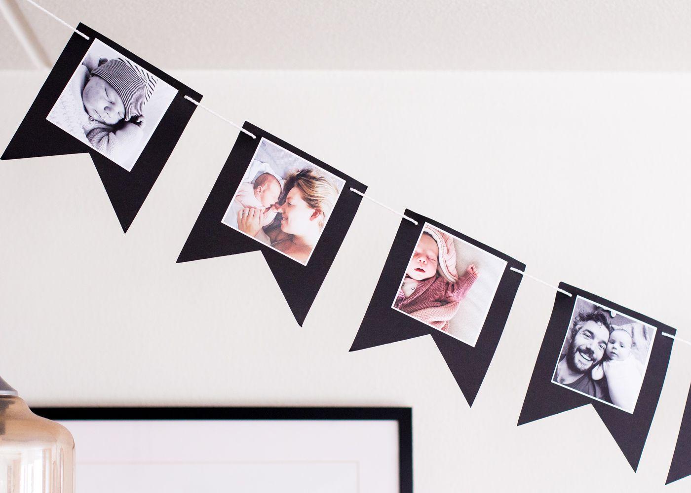 Verwonderend DIY: Foto vlaggenlijn maken | Vlaggenlijn verjaardag AV-31