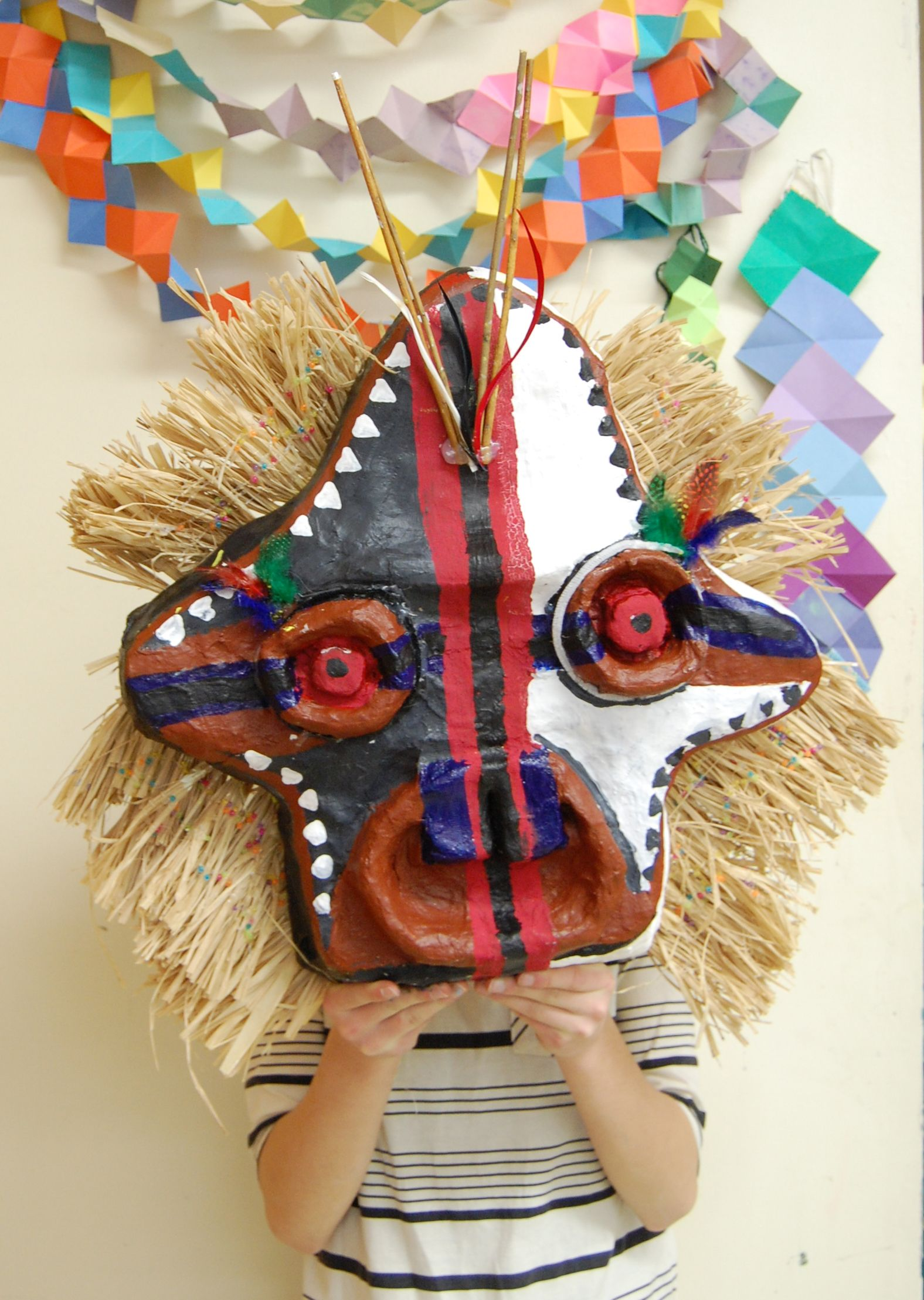 7th grade art african mask rye middle school 20112012