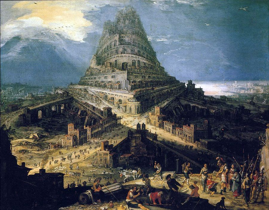 Bible But Does It Float Tower Of Babel Biblical Art Tower Of Babylon