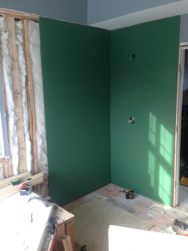 Your Guide To Water Resistant Greenboard Drywall Modernize Bathroom Remodel Small Budget Green Bathroom Simple Bathroom