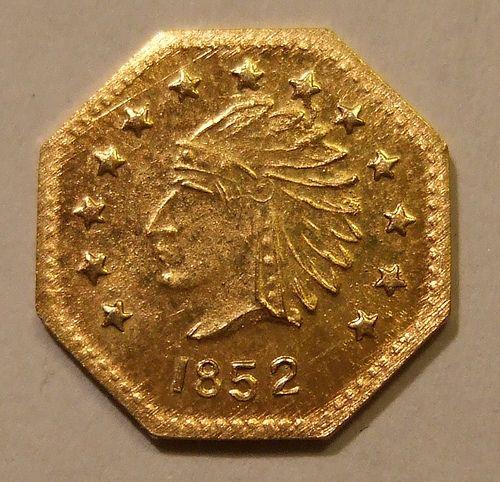 Usa California Gold Rush Gold 1852 1 2 Dollar Flickr