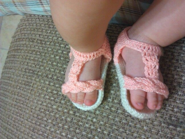 Sandalias en croché