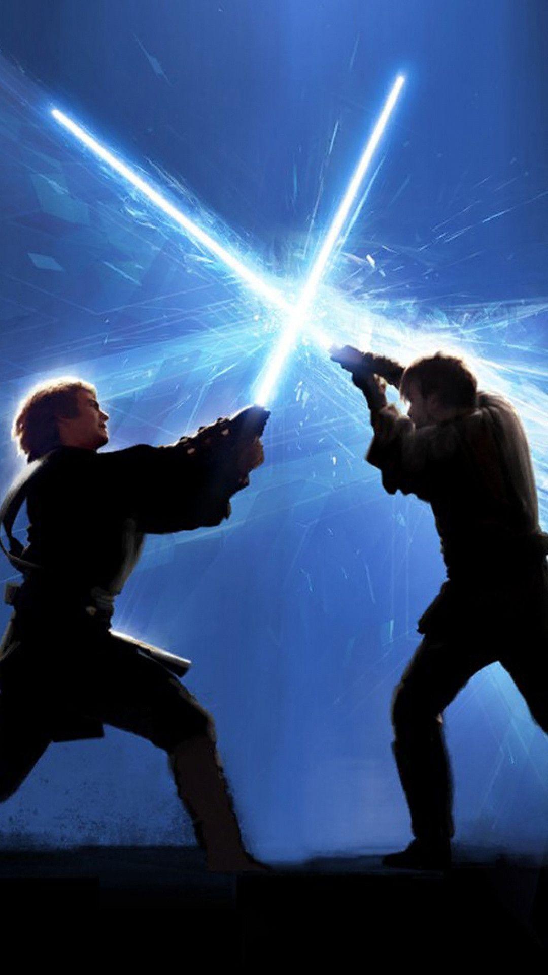 Anakin vs ObiWan battle of the heroes Star Wars