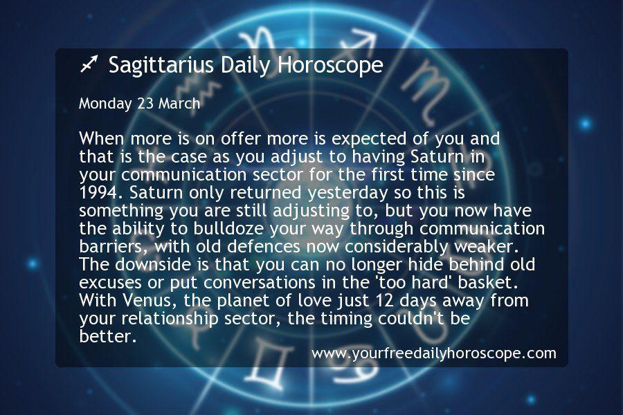 ♐ Sagittarius Daily Horoscope forMonday 23 March - #daily #horoscope #march #monday #sagittarius - #CharacterDesignRpg