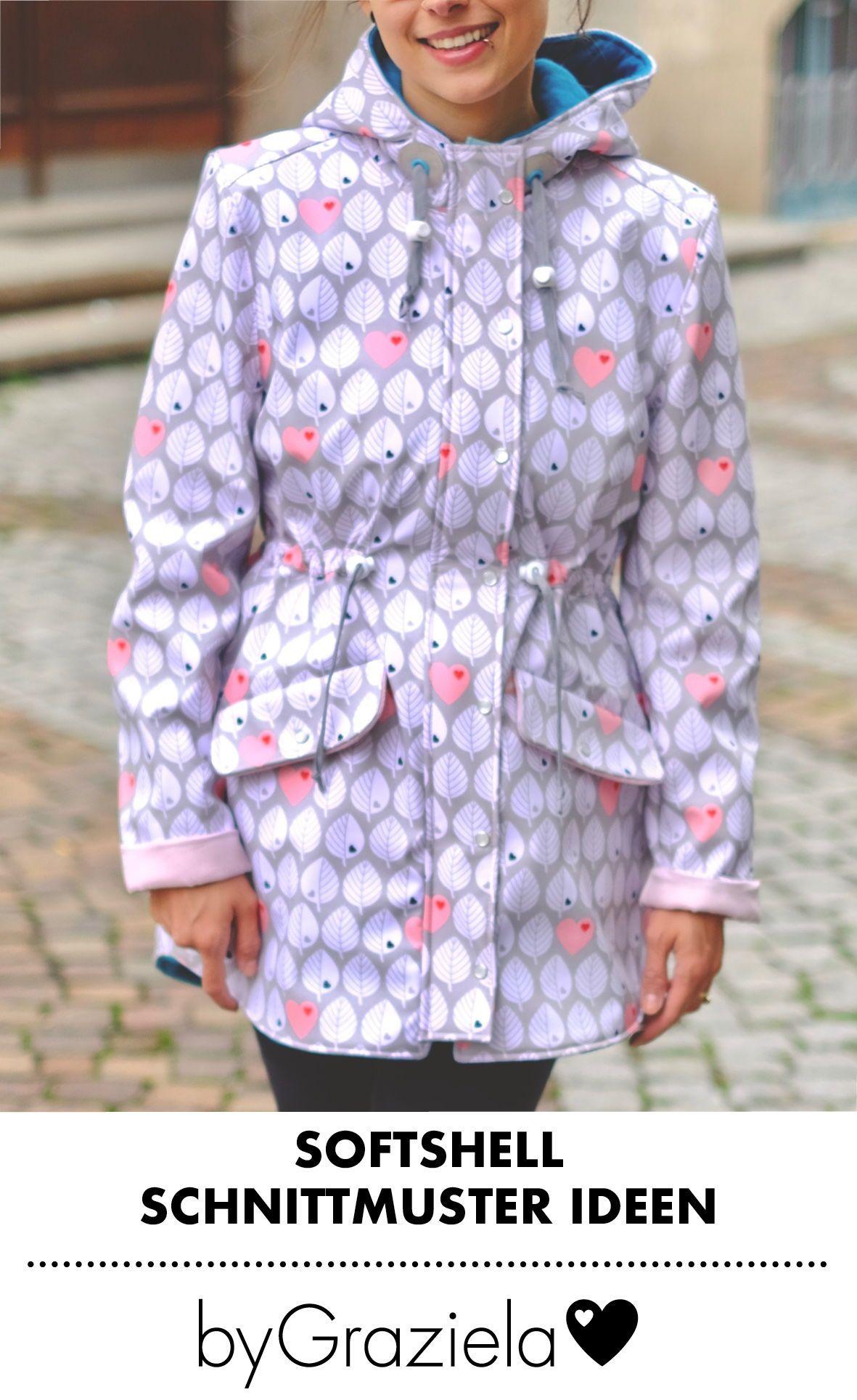 Jacken für Damen aus Softshell nähen | Schnittmuster für