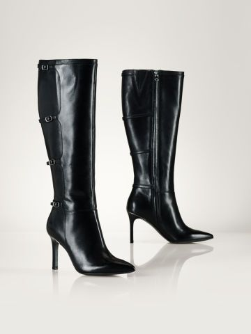 4478a2d5f Leather Vallerie Heeled Boot | shoes I'd like to have. | Shoe boots ...