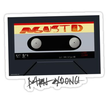 Agust D Mixtape Fanart Bts Sticker By Ajol Aesthetic Stickers Pop Stickers Printable Stickers